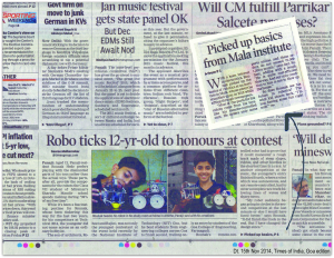 20141115_Times of India Goa Edition_Raunak