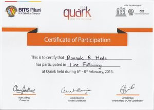 Quark2015_BITS_Line following
